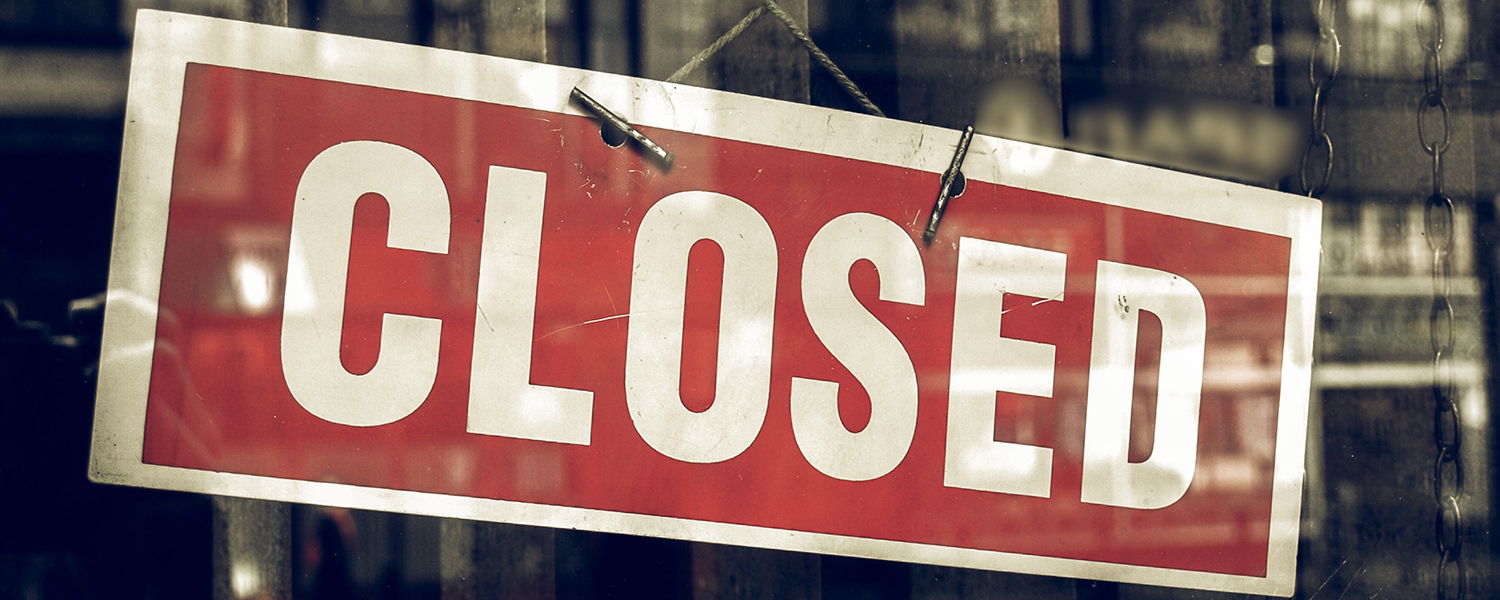 Closed Sign For MMB Branch Blog