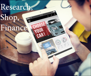 Research, Shop, Finance Footer