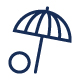 Vacation Umbrella Icon