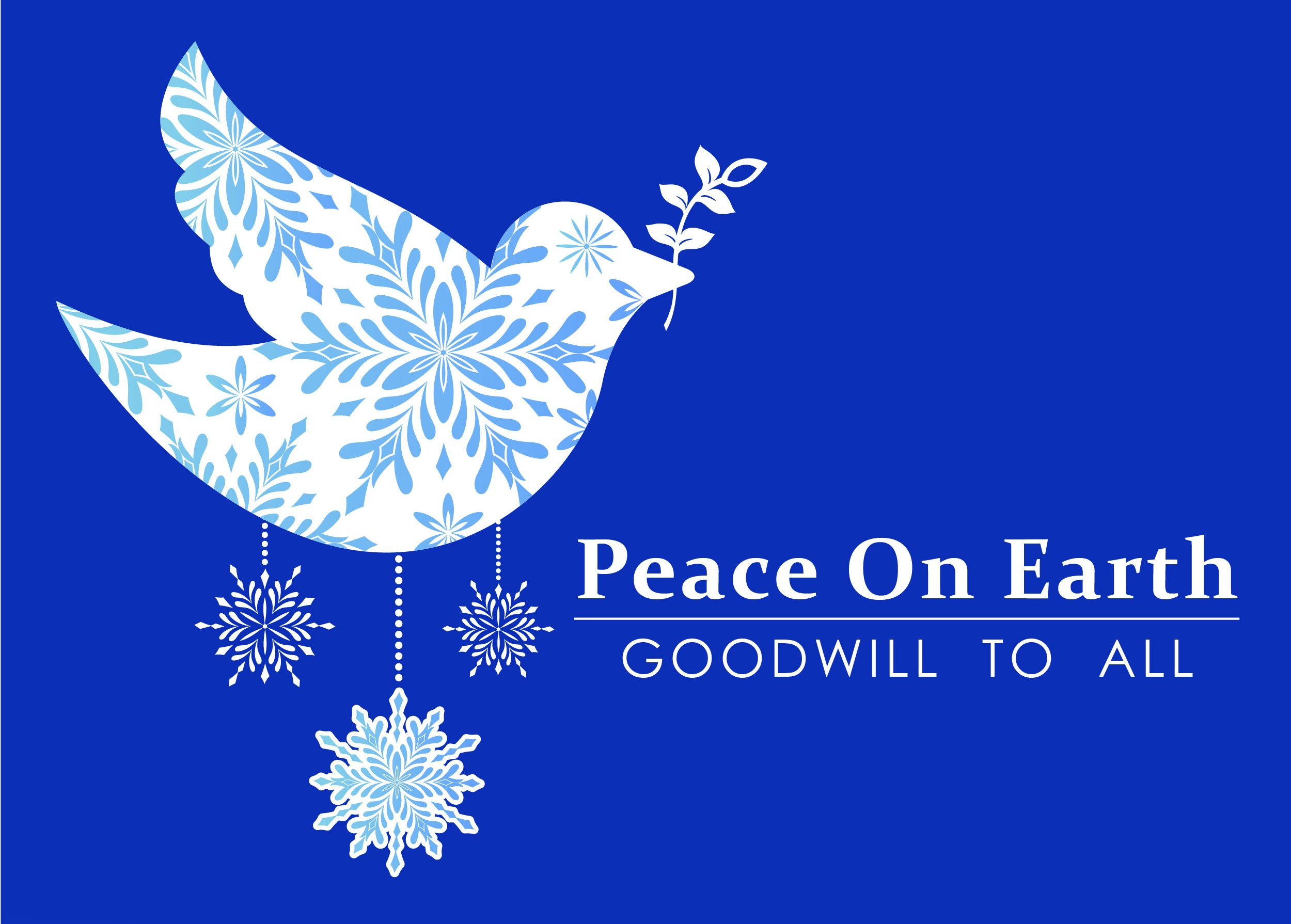 White Dove: Peace On Earth, Goodwill To All Image For Holiday Hours